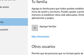 Como configurar el control parental en Windows 10