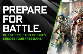 For Honor y Ghost Recon Wildlands gratis por la compra de gráficas GTX 1070 y GTX 1080 de NVIDIA