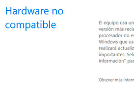 Elimina el mensaje de hardware no compatible en Windows.