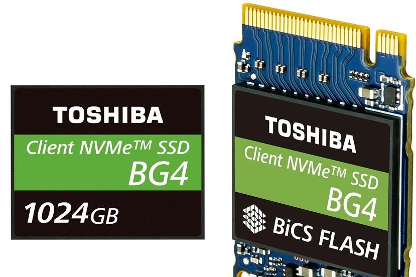 Toshiba BG4, SSDs NVMe PCIe x4 de hasta 1 TB con memorias 3D de 96 capas en formato ultacompacto