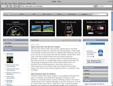 Apple. Safari para Windows, Imagen 1