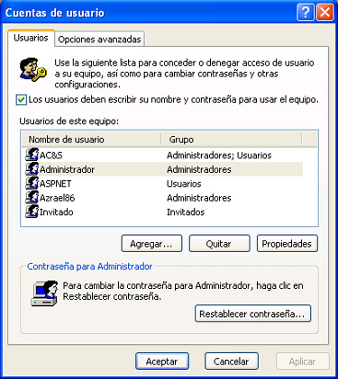 Men�s ocultos del sistema operativo Windows XP, 3
